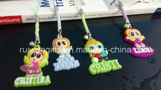 Customized Soft Rubber Mobile Pendant, Mobile Charms