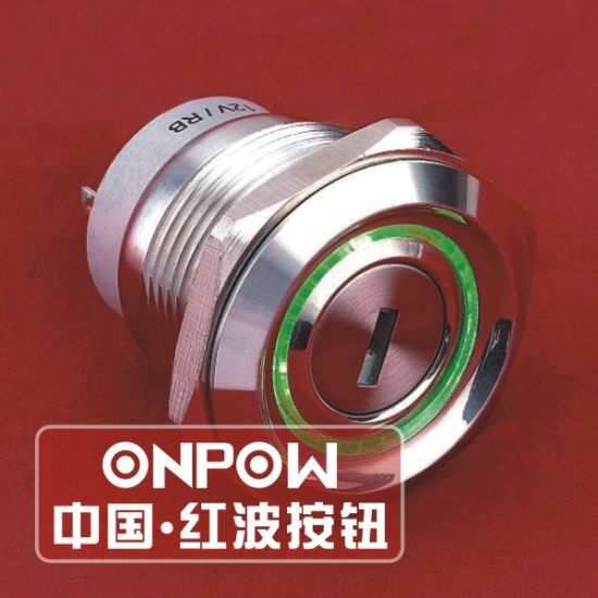 China Onpow 30mm Key-Lock Switch with Two Color LED (LAS1-AGQ30-11Y