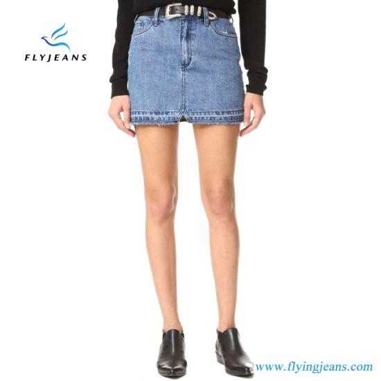 Fashion Blue Classic Ladies Jeans Skirts Women Denim Miniskirt (E. P. 515)