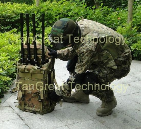 Four Bands Military Bomb Jammer (TG-VIP Manpack) High Power Manpack Multiband Transportable System