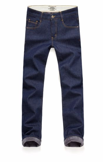 D826 Winter Thick Denim Jeans Men′s Classic Regular-Fit Jean pictures & photos