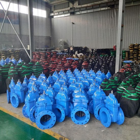 Ce ISO Cheap Price Handle Wheel Type Metal Ggg50 Ductile Iron Resilient Seated Double Flanged Gate Valve Manufacture