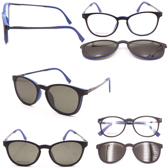 e6df0f6cf3c New Design Magnetic Clip on Glasses Polarized Sunglasses Optical Frame High  Quality Eyeglasses