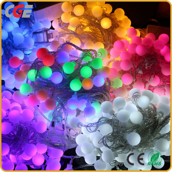 Christmas Decorations LED Ball String Light Fairy Light with Different Colors Low Price pictures & photos