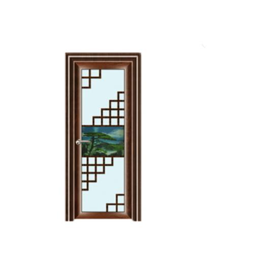 China Curved Glass Shower Door Aluminum Frame Glass Swing Door ...