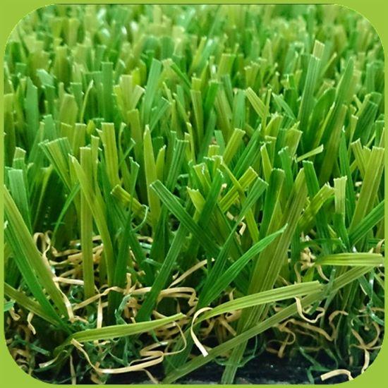 W Shape Blade Garden Artificial Grass for USA