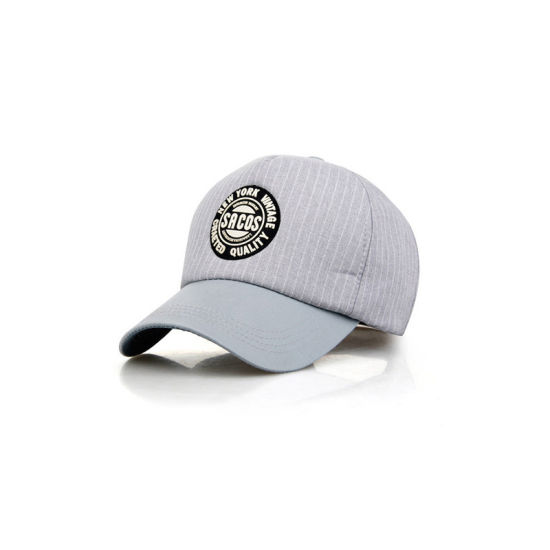 Grey Black Cotton Twill Baseball Cap (YH-BC006) pictures & photos