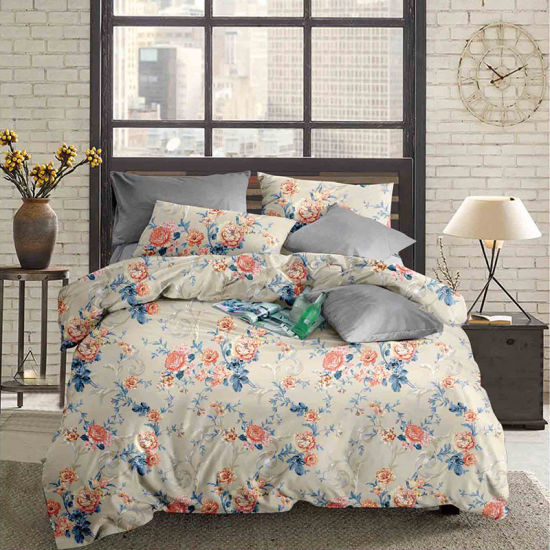 100% Polyester Microfiber Pigment Printed Bed Sheets Home Textiles
