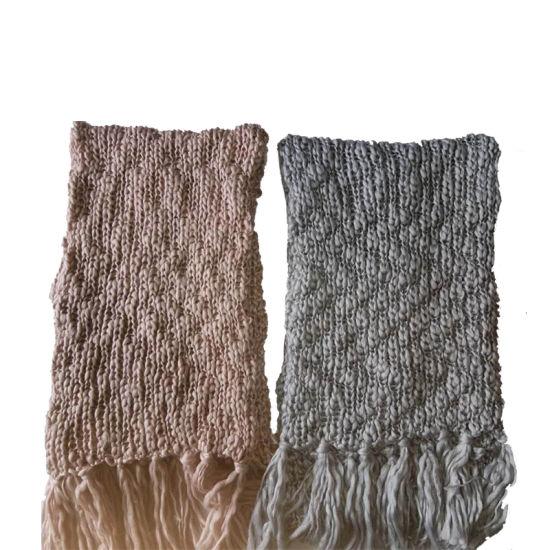 Lady Winter Fashion Chunky Knitting Sluby Scarf