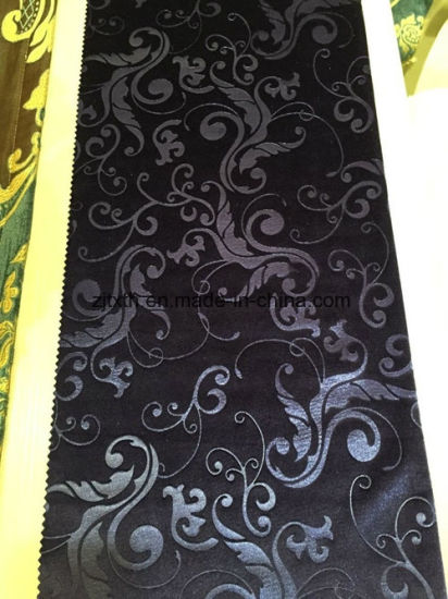Wholesale European Hotel Polyester Material 3D Embossed Velvet Curtain Fabric