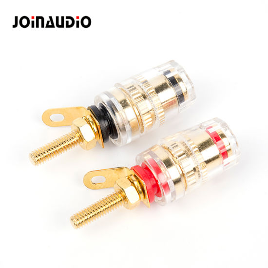 Crystal Binding Post for Audio Speaker Amplifier 4mm Banana Plug Terminals Connector (BT-065)