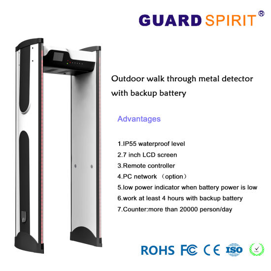 China Intelligent 6 Digital Counting Door Frame Metal Detector with ...