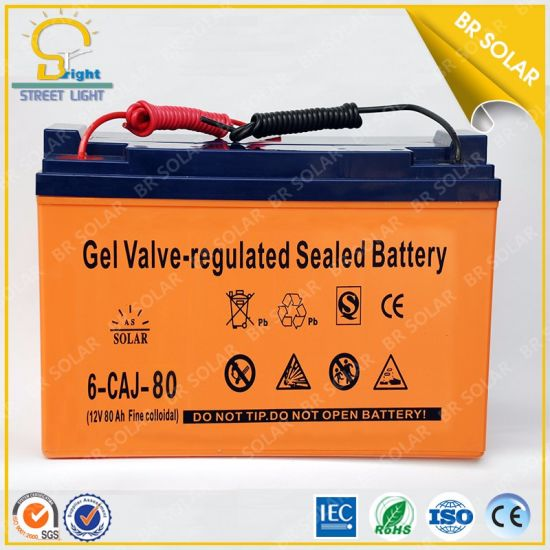 High Quality Solar Using 80ah Collid Battery pictures & photos