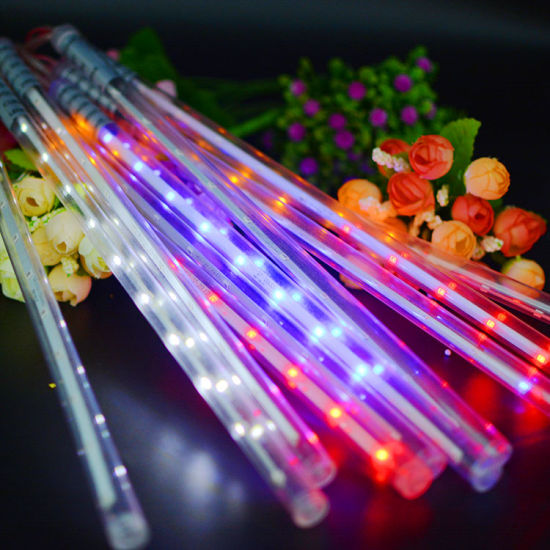 solar meteor shower rain tubes led light christmas valentine wedding decoration fairy string lights