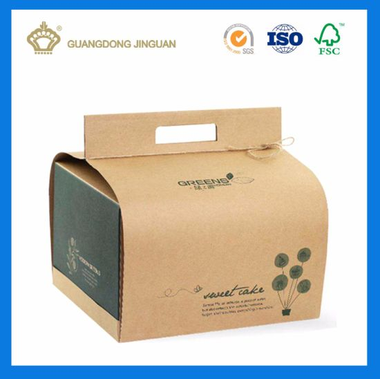 China Eco Friendly Craft Paper Box With Handle Customized Design