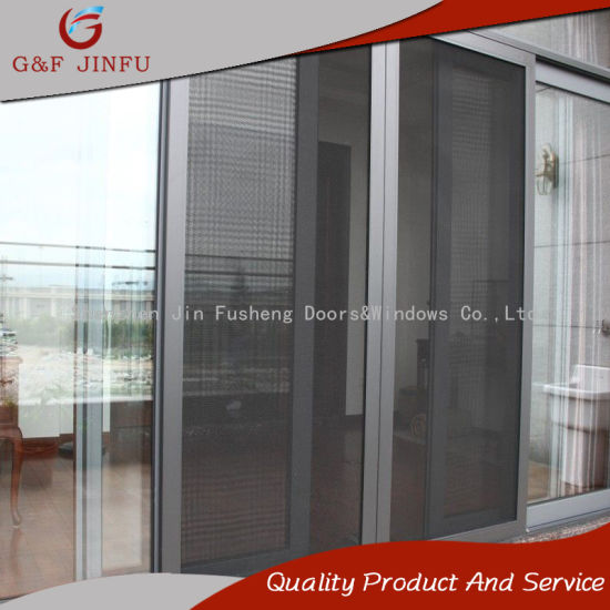 China Strong Durability Aluminum Glass Sliding Door With 16mm