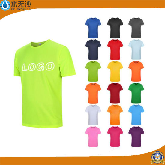 Wholesale Men Women Custom Logo Print Promotional Cotton Round Neck T-Shirts