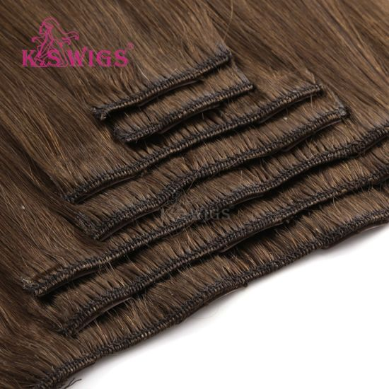 Clip in Hair Virgin Human Hair Brazilian Remy Hair Extension pictures & photos