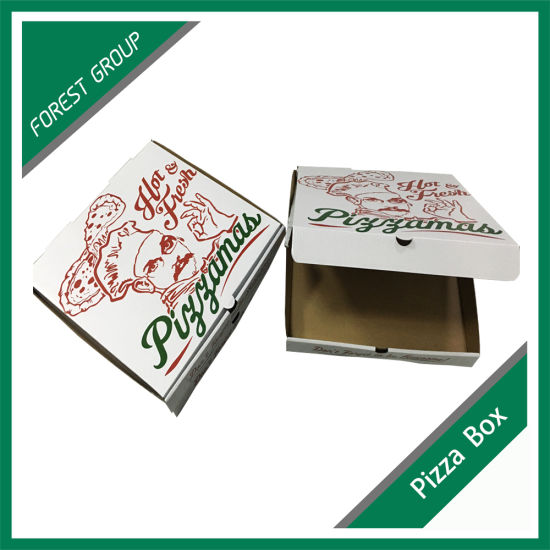 Custom Size Corrugated Paper Pizza Box pictures & photos