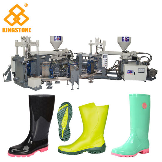 Automatic Rotary Two Colors PVC Rain Boots Injection Molding Machine pictures & photos
