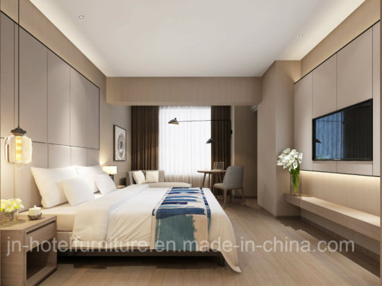 Chinese Modern and Stylish Wooden Hotel Bedroom Furniture Sets (GN-HBF-70)