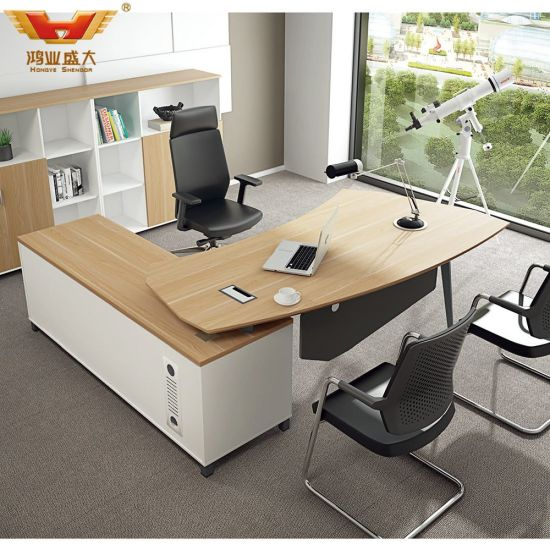 Modern L Shape Office Desk Executive Desk with Drawer Table (H85-0154)