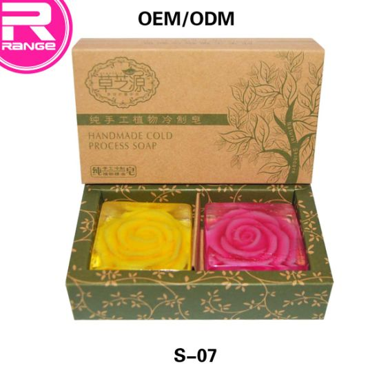 Natural Essential Oil Soap Handmade Bath Soap Rose Soap Set Soap Gift Box Transparent Soap pictures & photos