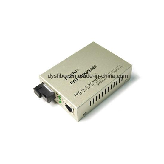China 10/100/1000m Fiber to RJ45 Converter Sc Fiber Optic Port Media