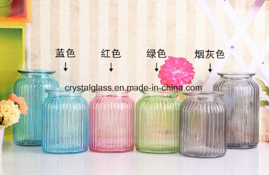 China Wedding Table Decor Colored Glass Vase China Glass Bottle