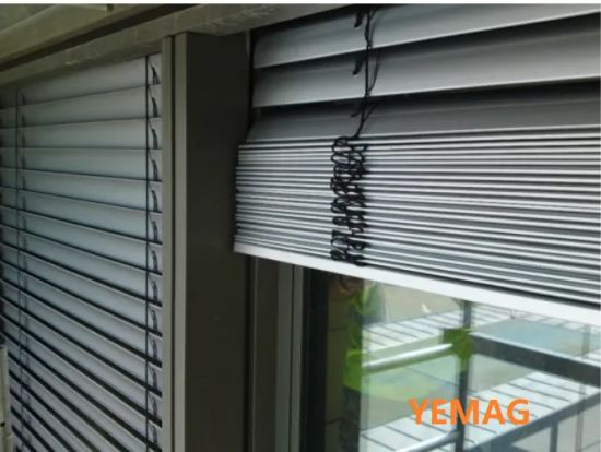 Motorized and Manual Sunshade Aluminum Venetian Roller Blinds/Electrical, Manual, Remote Control, Switch