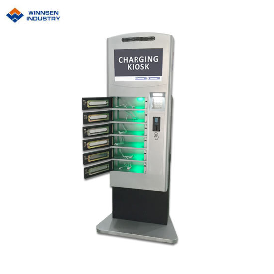 Fingerprint Operated Wifi Cell Phone Charging Station Lockers