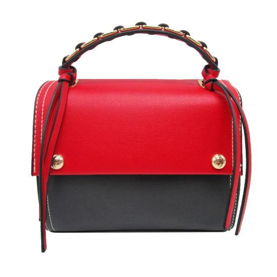 Fashion Contrast Color Bag Sweet Style Woman Tote Bag Good Quanlity Lady  Shoulder Bag Hotsale PU Lady Crossbody Bag Handbag 4db8a2a3d7659