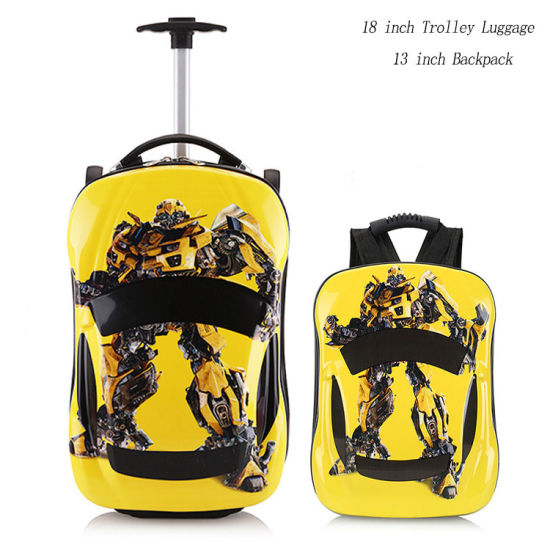 2b4c46e00630 Cartoon 3D Carry on Travel Luggage Hard Shell School Kids Suitcase Trolley  Sets for Boys Girls