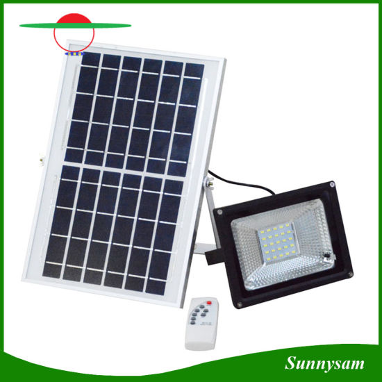 Outdoor Garden Lighting 10w 20w 30w 50w Remote Control Solar Flood Lamp