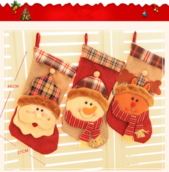 Happy Party Christmas Stockings Chinese Decorations