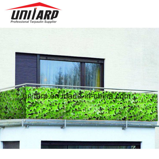 China 096m Weatherproof Balkon Sichtschutz Pvc Leaf Color China