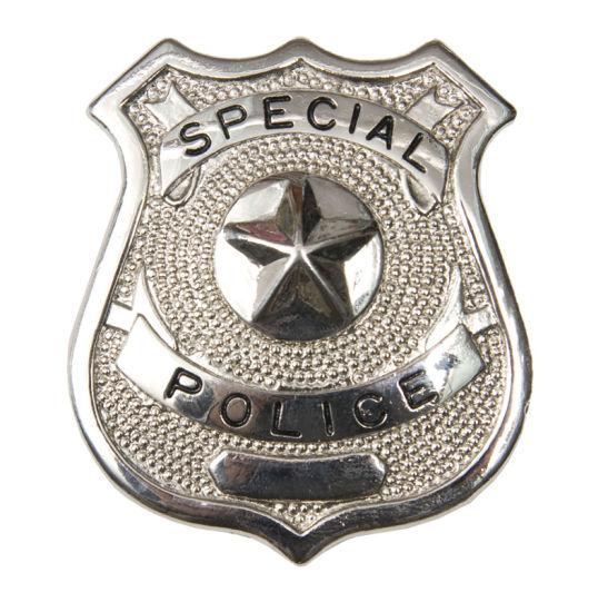 dc8c394a81d 2018 Wholesale Custom Logo Plating Silver Souvenir Metal Police Pin Badge  (201) pictures &