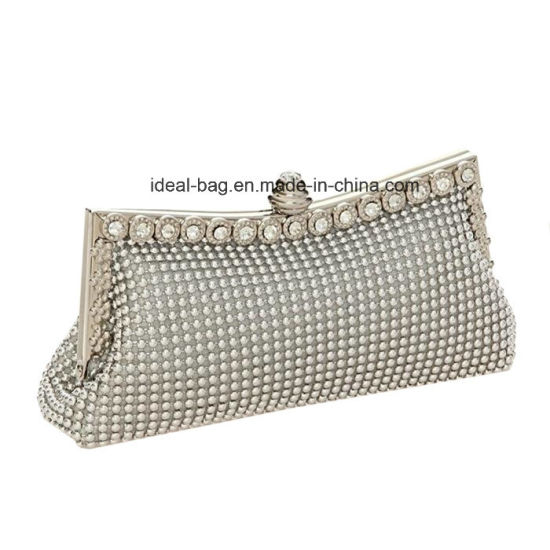 Fashion Diamond Kiss Lock Frame Purse, Lady Evening Bag Party Clutch Bag Hand Bag Wholesale pictures & photos
