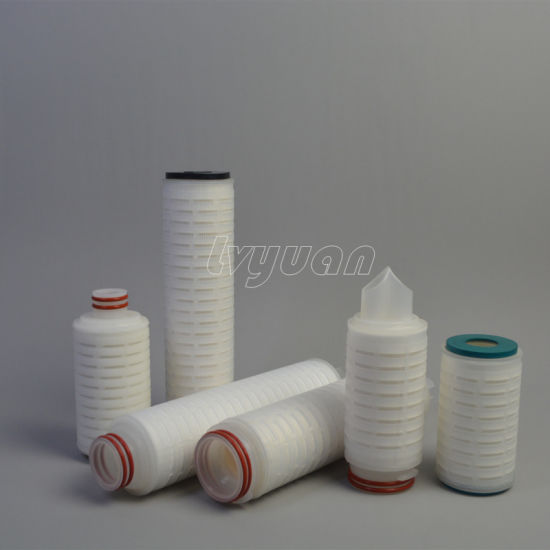 Pleated Membrane 0.2 Micron Filter Cartridge for Chemicals Medicine Biology Filtration