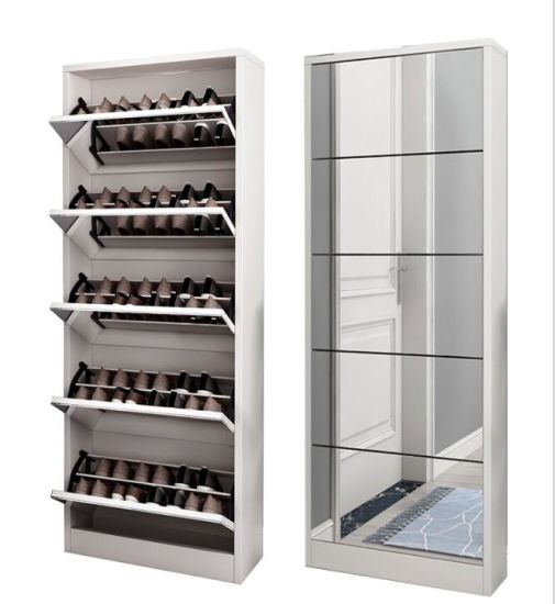 Wooden Shoe Rack Specific Use and Modern Appearance Shoe Cabinet
