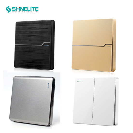 Shinelite Factory BS New Frameless Big Button Electrical Socket Wall Light Switch