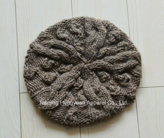 New Design Lady Fashion Knitted Hat Beret Hat (HY090141/HY16061340/HY041970/HY090139) pictures & photos