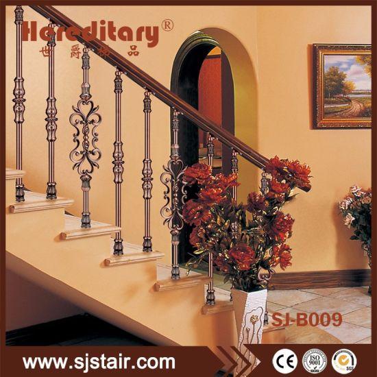 Bronze Aluminium Stair Balustrade Systems for Interior Decoration Materials
