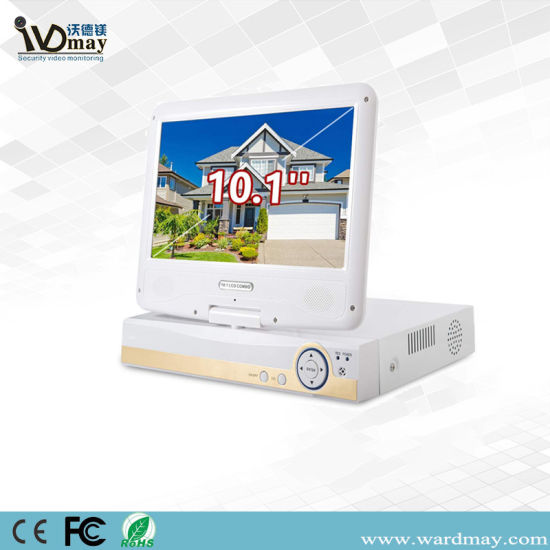 Wdm 4chs 1080n Network Video Surveillance Ahd DVR with 10 Inch LCD Screen pictures & photos