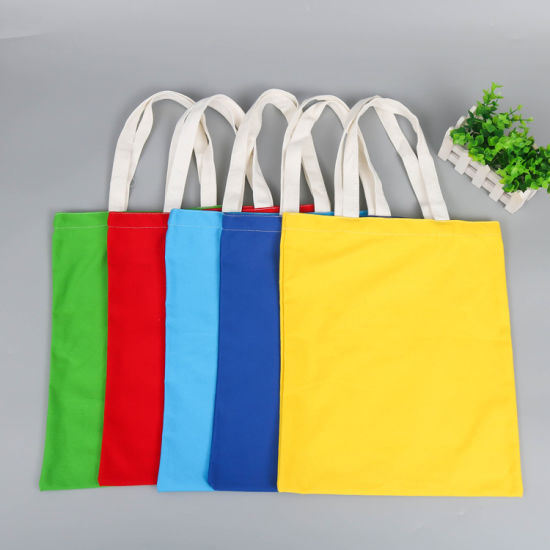 Custom Eco-Friendly Colorful Cotton Shopping Shoulder Bags