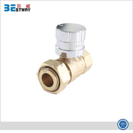 Good Reputation Factory Brass Lockable Ball Valve with Swivel Nut