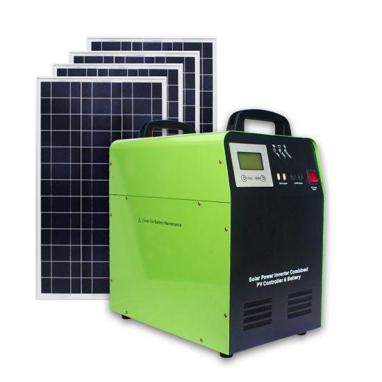 AC220V 1500W Solar Panel Kit Controller Inverter Home Battery Solar Power System