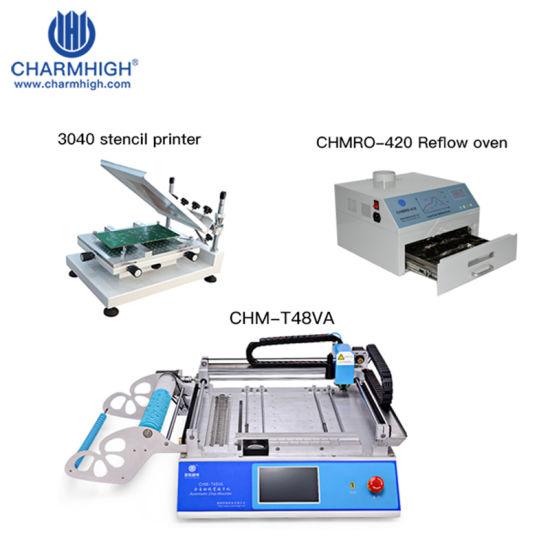 Hottest SMT Production Line: Chm-T48va Pick and Place Machine, 3040 Stencil Printe, Reflow Oven