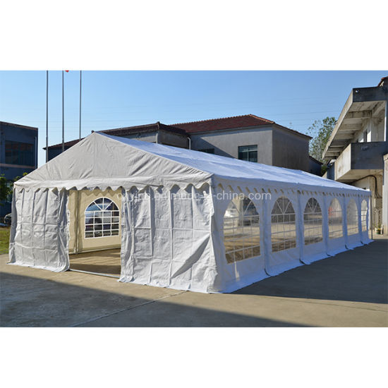China Wholesale Durable Waterproof White&Blue Outdoor Canopy Wedding Party Tent 5X10