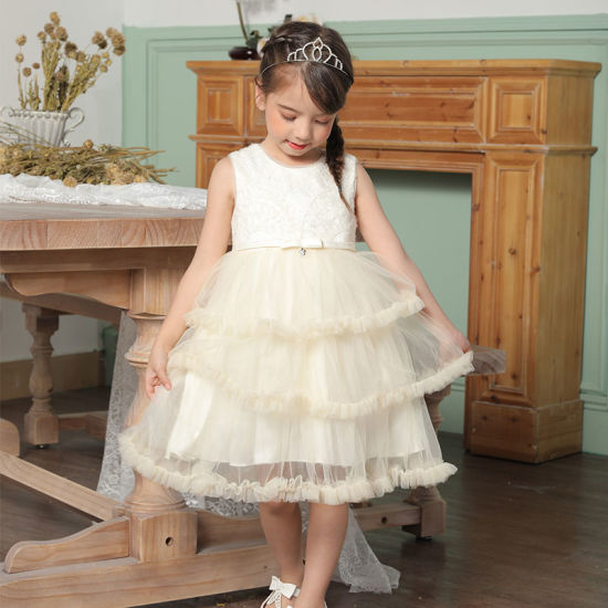 Fashion Flower Girl Dress Party Birthday Wedding Princess Baby Girls Clothes Children Kids Girl Dresses